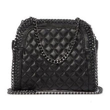 Load image into Gallery viewer, Quilted Chain Leather Shoulder Bag