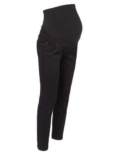 Ex New Look Maternity Black Over Bump Jeggings