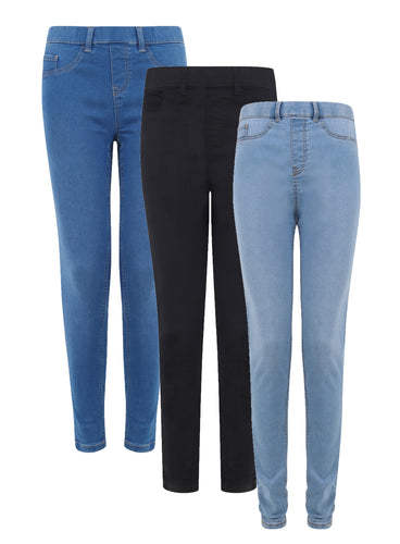 Ex New Look Blue Black Mixed Emilee Trouser Jeggings
