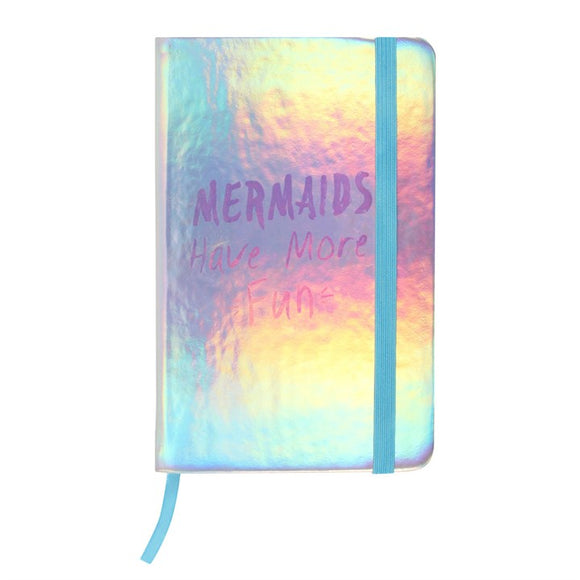 Mermaids Have More Fun A6 Hardback Notebook - Made by you Supplies
