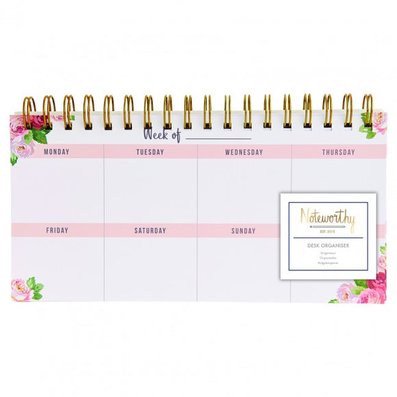 Graphic Florals Desk Organiser / Planner - Noteworthy - Made by you Supplies