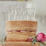 Boho Just Married Wooden Cake Topper - Ginger Ray - Made by you Supplies