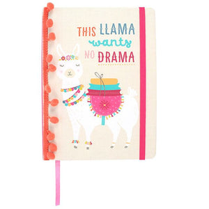 Llama A5 Hardback Notebook - This Llama Needs No Drama - Made by you Supplies
