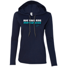 Load image into Gallery viewer, Hug your kids. Train your dogs - Ladies Pullover