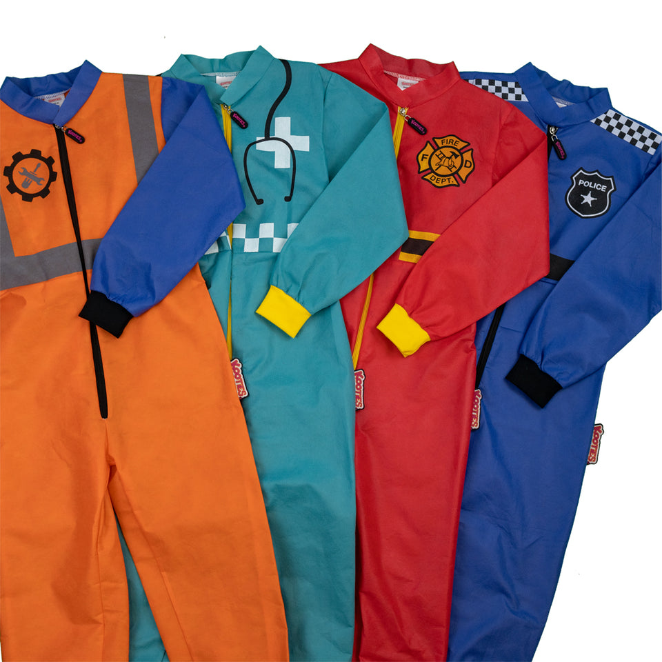 Mixed Dress up Coveralls (4 Pack)