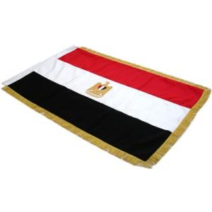 1006-Full Sized Double sided Flag Hand Embroidered, Egypt