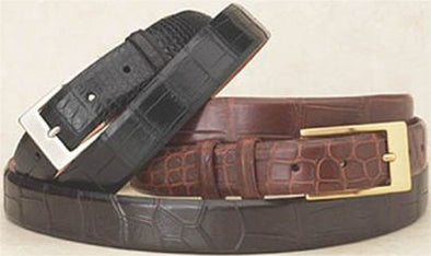 "1.25"" Wide Matte Alligator Belts Tapered to 1"""