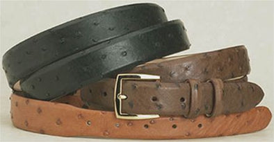 "1.25"" Wide Ostrich Belts"