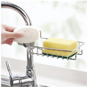 Stainless Steel Sink Towel Sponge Storage Rack Hanging Bathroom Kitchen For Towel Soap Rag Storage Hanger Rack Bathroom Kitchen