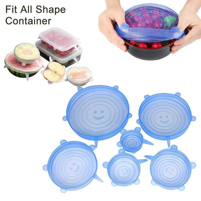 Kitchen Fruit Vegetable Tool Fresh Saver Sealing Cover Keeping Fresh Food Cover Lids Stretch Microware Fridge Container Cover