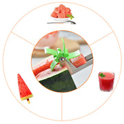 Transhome Watermelon Slicer Cutter Stainless Steel Windmill Cut Watermelon