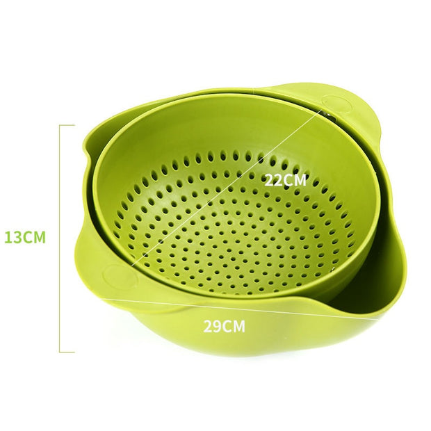Strainer Double Layer Drainer With Handle 1PC