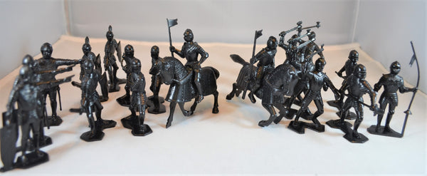 Marx Medieval Knights 54MM 1/32 Black