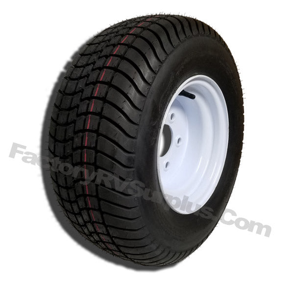 20.5x8x10 White Trailer Wheel (5x4.5) Bolt Circle
