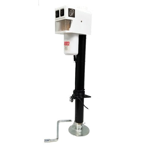 RAM EJ-3520-WBX 3,500 lb. Electric Trailer Jack with Drop Leg - White