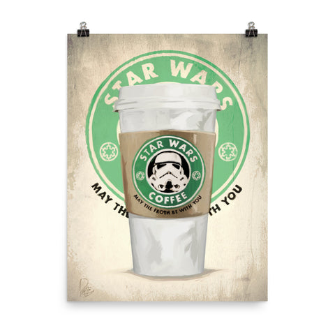 Star Wars Coffee - Punny Posters and Prints