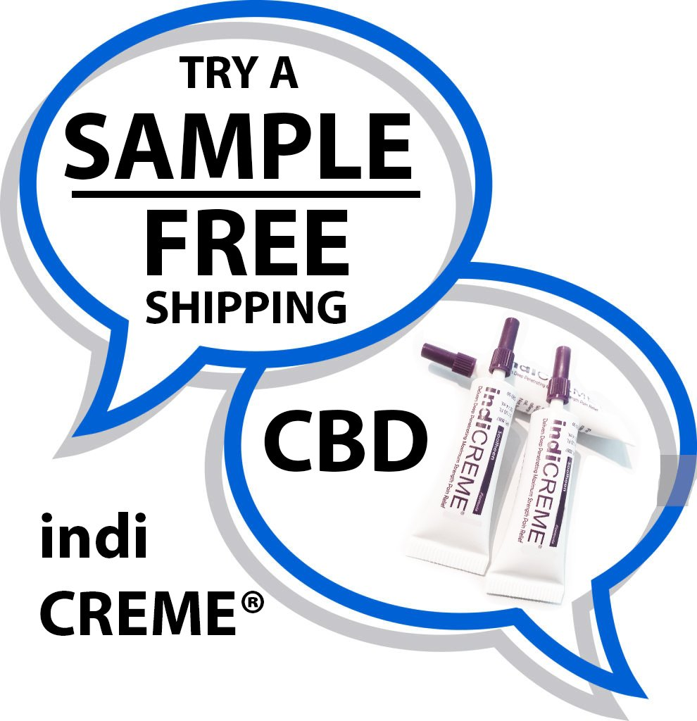 indiCREME™ Pure CBD  -   4cc SAMPLE (ONE TUBE & FREE SHIPPING)