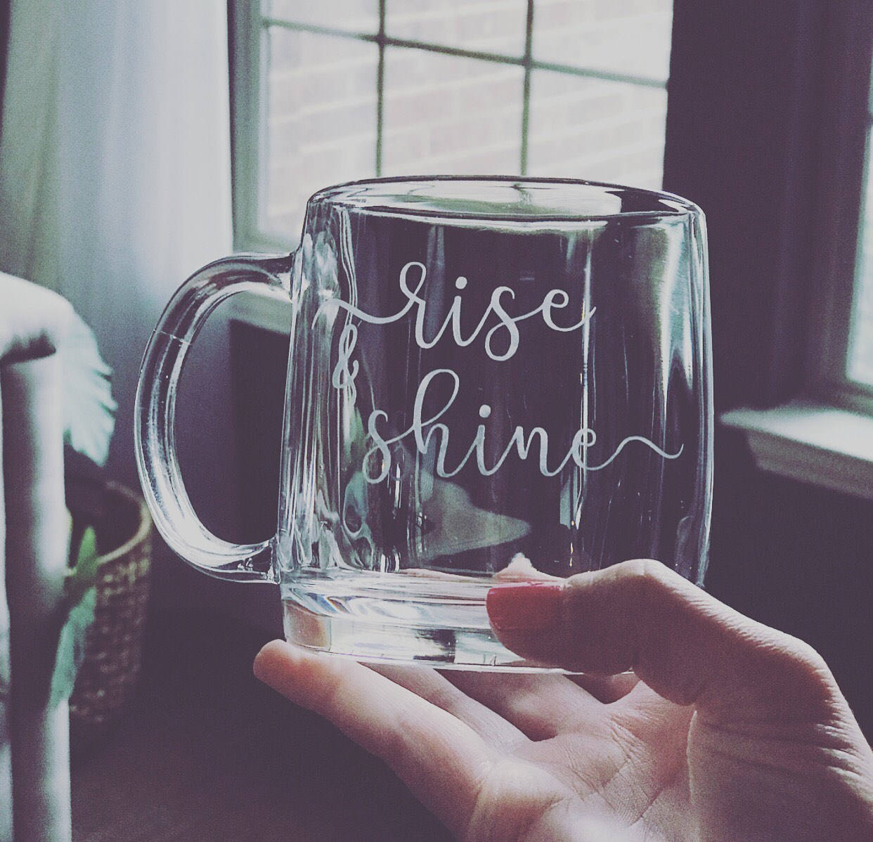 Rise and Shine etched coffee mug, customized coffee mug, etched coffee mug, funny coffee mug, best coffee mug, personalized coffee mug