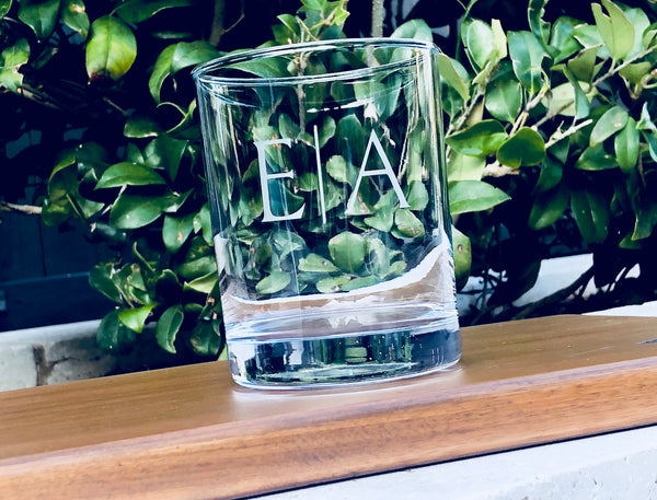 Initial whiskey tumbler, personalized whiskey glass, monogram whiskey tumbler, custom whiskey glass, personalized whiskey tumbler