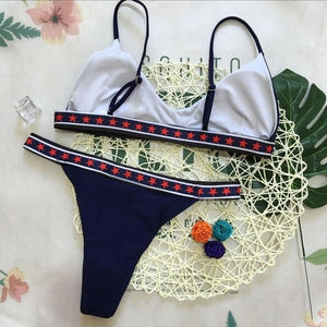 Gorgeous Pentagram Printing Sexy Bikinis Set Women - Shop Livezy Lane