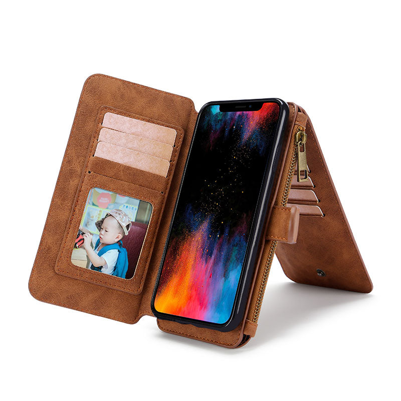 3 IN 1  Magnetic Adsorption Mobile Phone Cases Wallet Bracket
