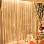 2m*3m(width*length) Fairy LED Window Curtain String Light - For Wedding Party Home Garden Bedroom Indoor Outdoor Wall Decoration