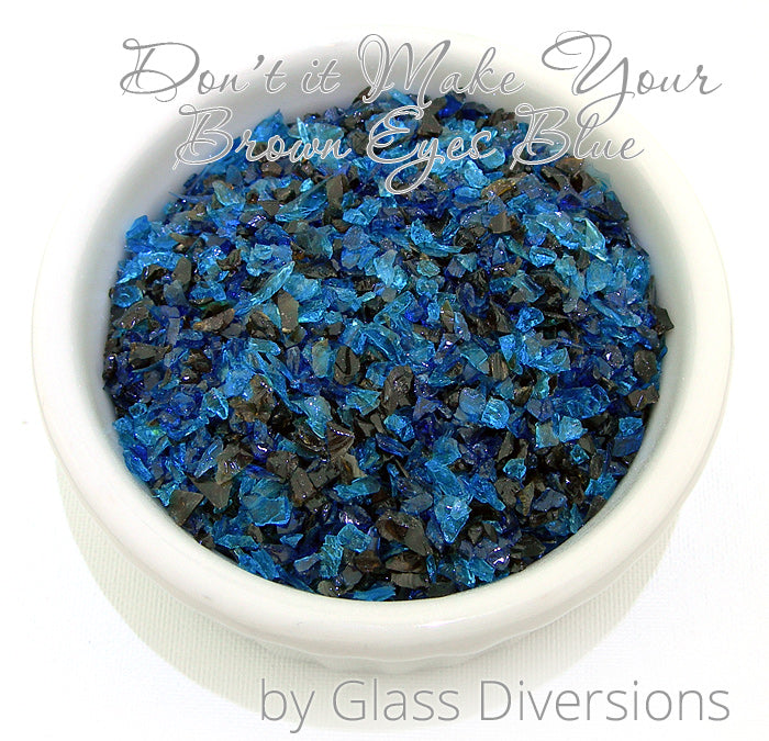 Don't It Make Your Brown Eyes Blue frit blend by Glass Diversions