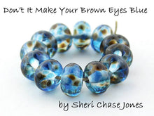 Load image into Gallery viewer, Don't It Make Your Brown Eyes Blue frit blend by Glass Diversions - beads by Sheri Chase Jones