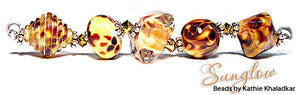 Sunglow frit blend by Glass Diversions - beads by Kathie Khaladkar