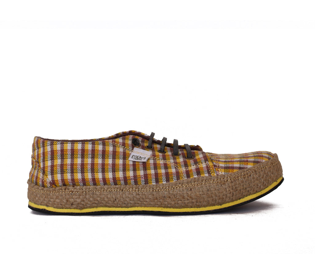solerebels Yellow urban runner  the weave Lace-Ups