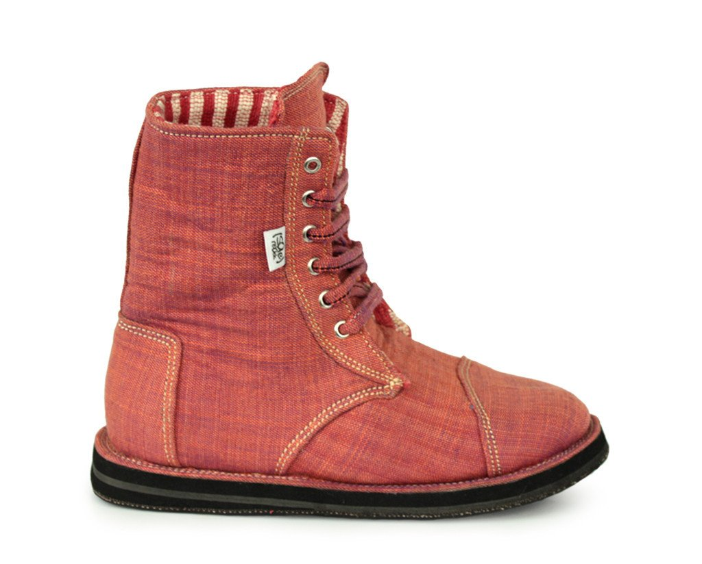 solerebels Red xOdus ahhh mSh Lace-Ups