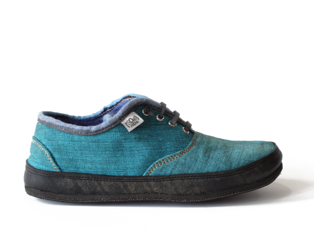 solerebels Teal Blue run AROUND FULL on mSh s2 Lace-Ups