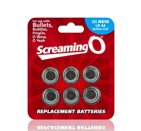 Replacement Batteries AG13 LR44 Button Cell 6 Count Each