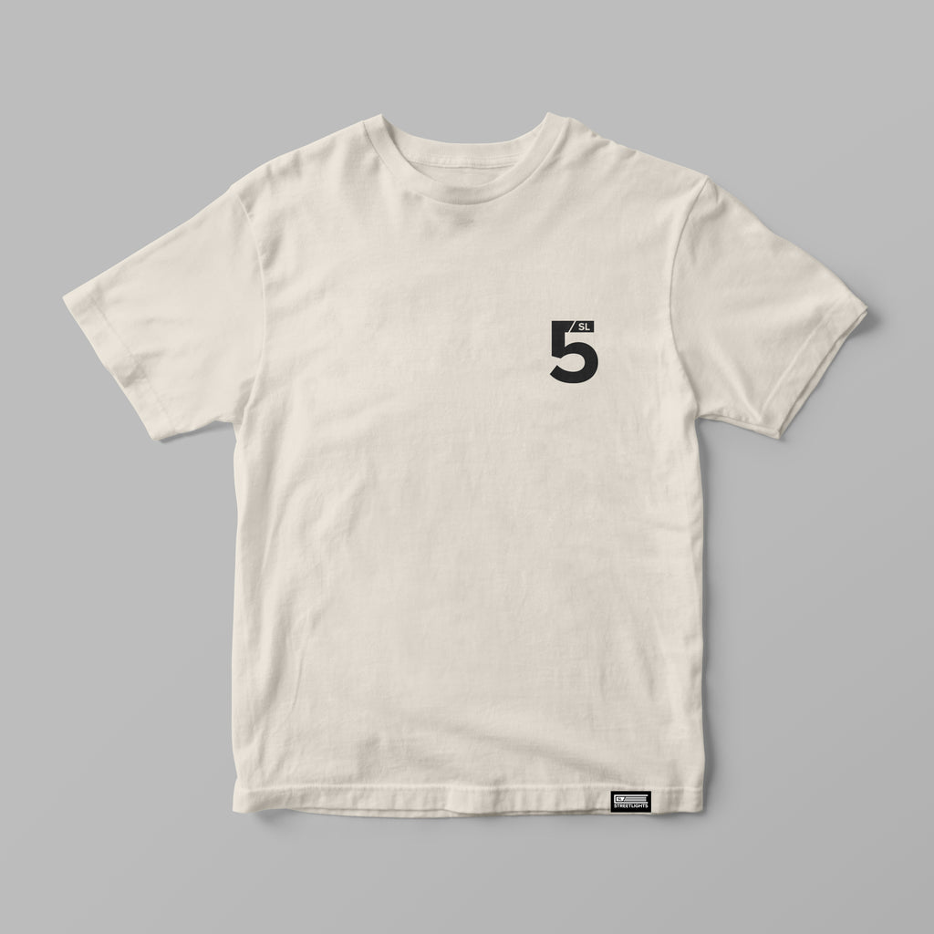 "5 Sacred Senses ""Divine Design"" Cream Tee"