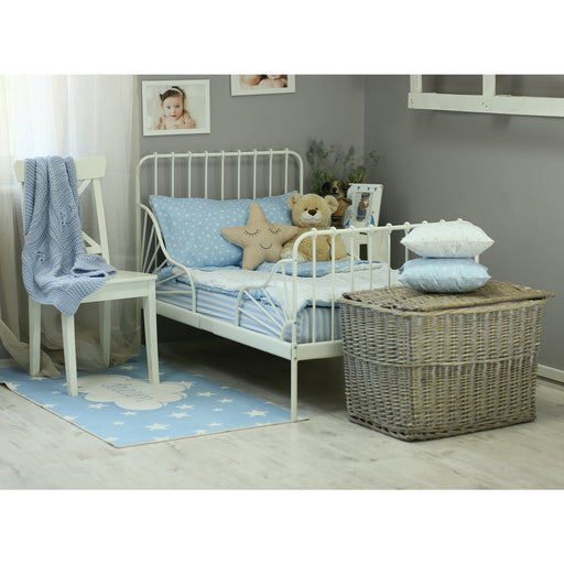 3 Piece Toddler Bedding Set, Blue