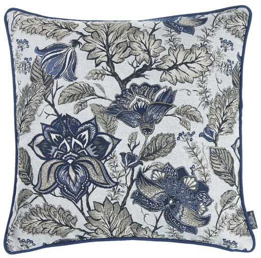 Jacquard Blue Weaver Decorative Throw Pillow Cover Home Decor 17''x 17''