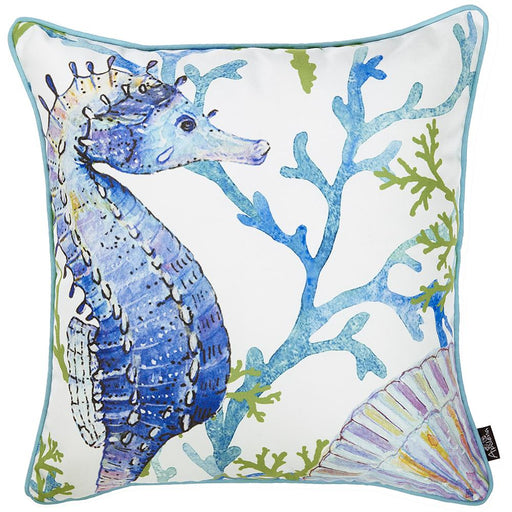 Marine Seahorse Decorative Throw Pillow Cover Printed Home Decor 18''x18''