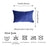 Velvet Navy Blue Decorative Throw Pillow Cover