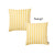 "Easy Care Yellow Stripes Decorative Throw Pillow Cover Set Of 2 Pcs 20""x20"""