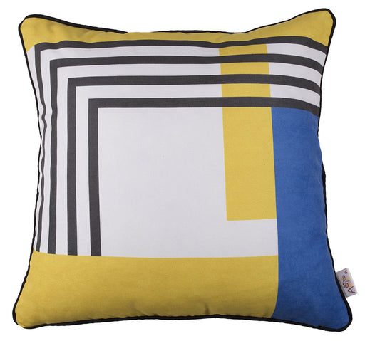 Scandi Square Geo Style Printed Decorative Throw Pillow Cover Home Decor 18''x18''