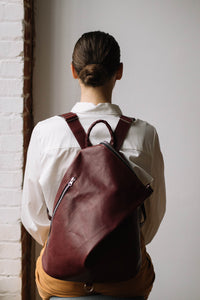 The Mercato Backpack in Amarena Wine
