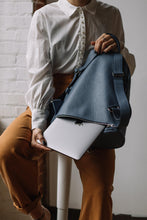 Load image into Gallery viewer, The Mercato Backpack in Bleu Ciel