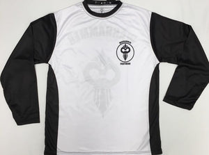 Long Sleeve Black and White Dry Fit T-Shirt (Adult Sizes)
