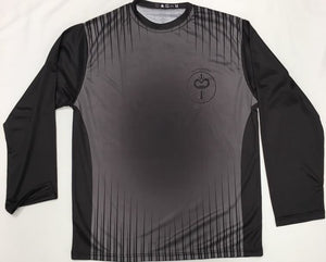 Black and Grey Long Sleeve Dry Fit T-Shirt (Adult Sizes)