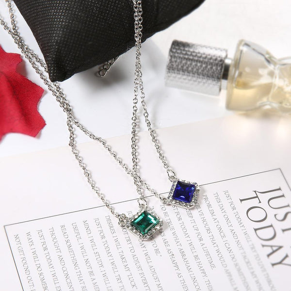 Gosfashion Fashion Personality Diamond Chain Multi-Layer Necklace Party Accessories