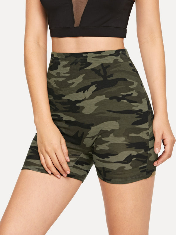 Shorts mit Camo Muster