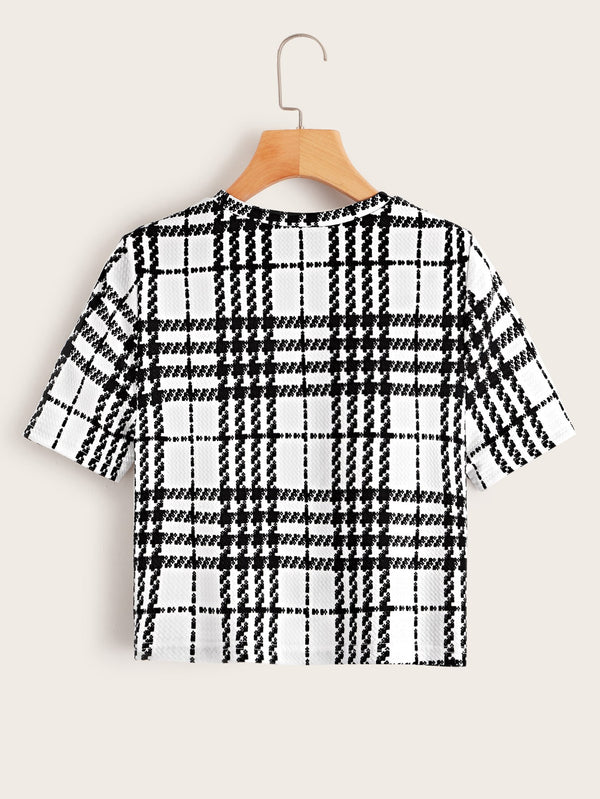 Top mit Plaid