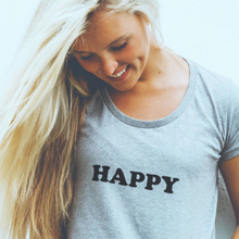Load image into Gallery viewer, 100% Organic Cotton 'Happy' Women's Tee