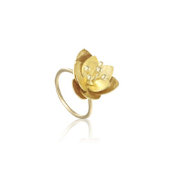 "荷花 ""純金"" 戒指 - Summer Dream ""Solid Gold"" Ring"