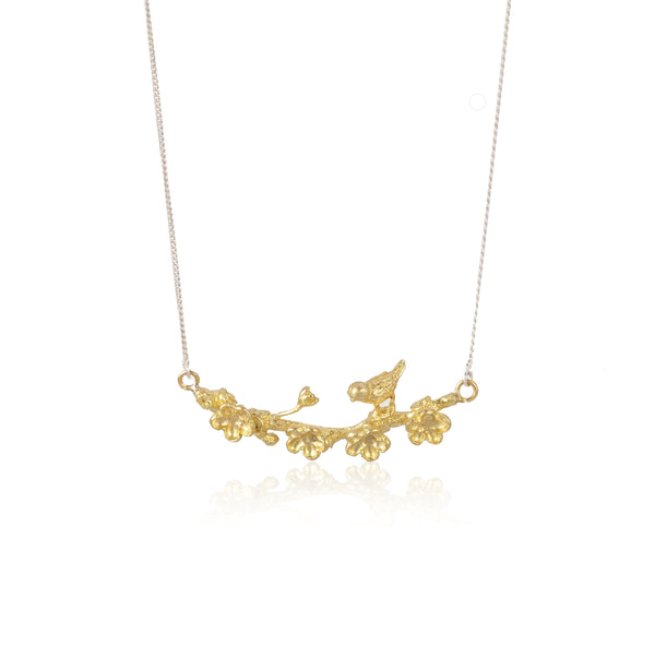 "梅花 ""純金"" 項鍊 - Winter Sonnet ""Solid Gold"" Necklace"
